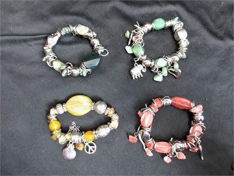 Lot of 4 Fashion Bracelets