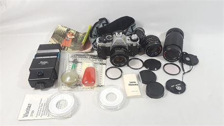Vintage Canon AE-1 Program Camera. (Bundle)