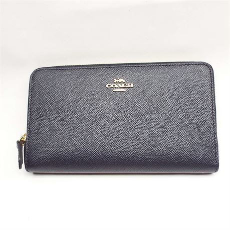 COACH Navy Blue Wallet New Without Tag