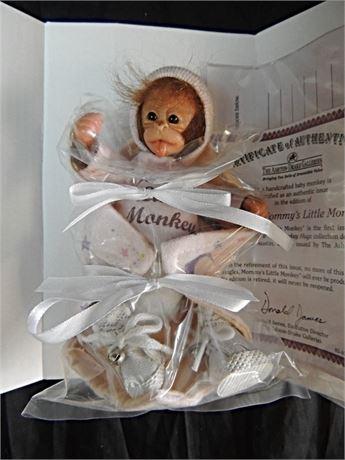 "Jingles 6"" Baby Monkey Doll by Darlene Austin for Ashton Drake MIB"