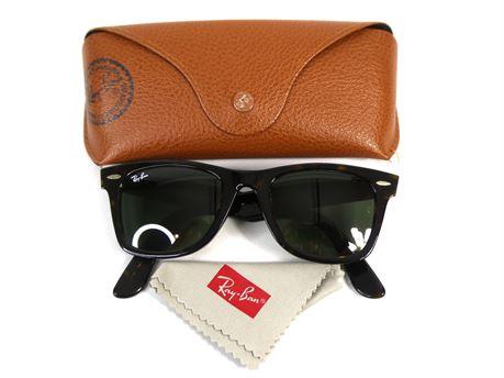 Ray-Ban RB2140 902 Wayfarer Tortoise Sunglasses 50-22 3N w/Case
