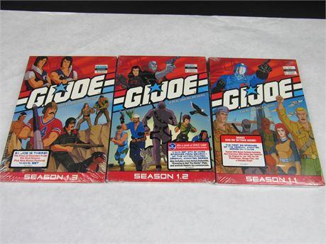 G.I. JOE DVD Bundle Seasons 1.1, 1.2, and 1.3 #MV64 (650)