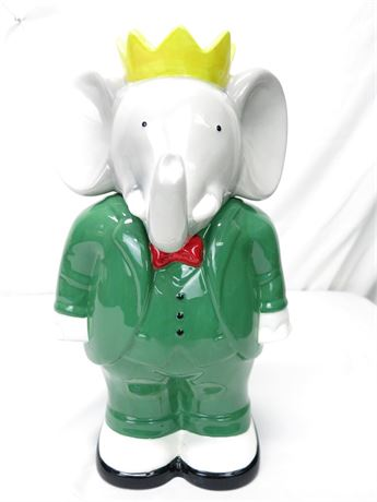 Vintage Babar Elephant Cookie Jar