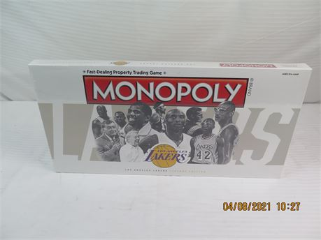 Los Angeles Lakers Legend Edition Monopoly Board Game - BRAND NEW/SEALED (670)