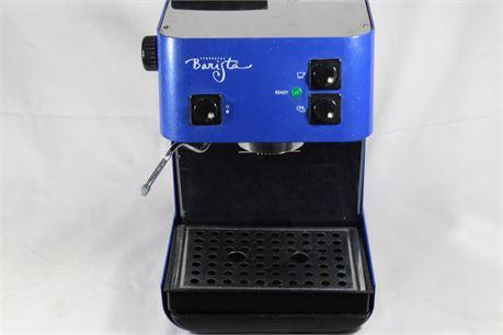 Starbucks Barista Cobalt Blue Home Espresso Machine