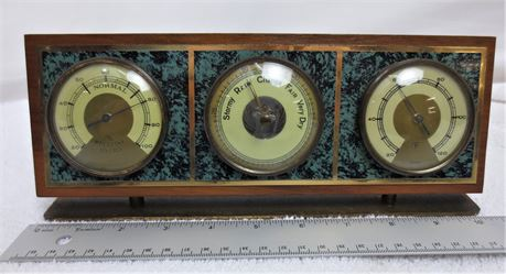 Vintage Germany/West Germany Weather Station Thermometer, Barometer, Hygro