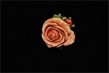 "Harmony Kingdom  ""Single Orange Rose"" Handmade Boxes Crafted in the UK (500)"