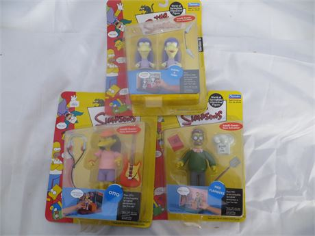 Simpsons Figures, LOT of 3