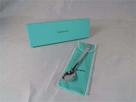Tiffany Sterling Silver Baby Spoon with Ballerina Shoes (270r1bs2)