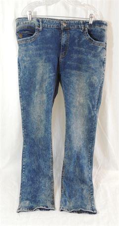 Rocawear Men's Acid Wash Skinny Jeans Size 40 x 34