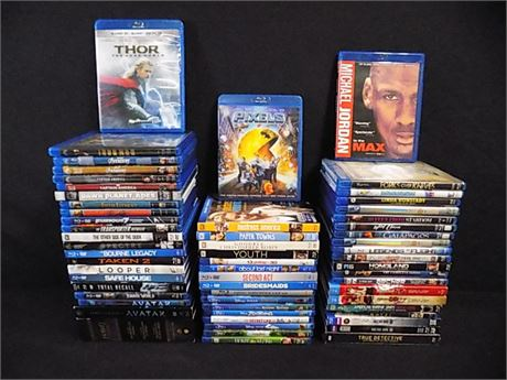 Blu-Ray Lot, Movies+Shows; 60 Pieces