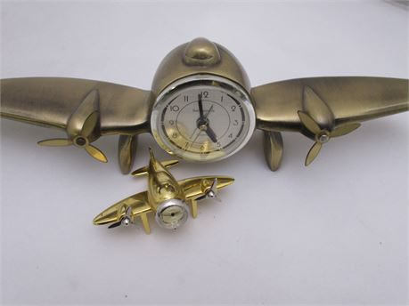 Brass Airplane Clocks