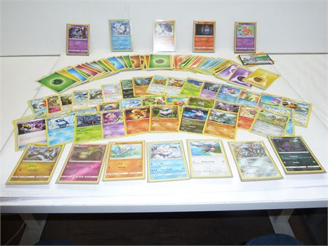Pokemon Cards: 99 + Assorted Cards (53 Energy Cards) & More