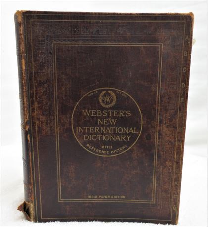 Vintage Webster's New International dictionary with Reference History (1922)