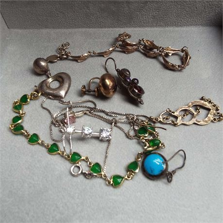 29.5 Grams Of Sterling Silver Scrap Some With Stones