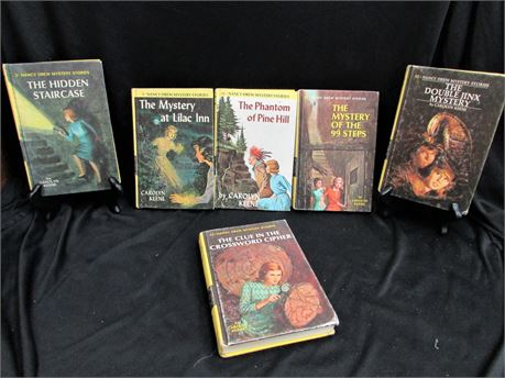 Collection of 6 Nancy Drew Mystery Stories. Published Between 1959-1973
