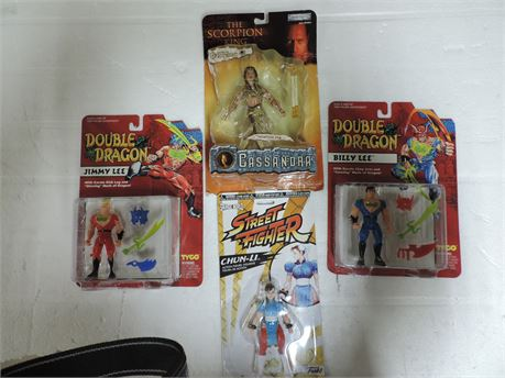 Lot Of action Figures Scorpion King Street Fighter Double Dragon