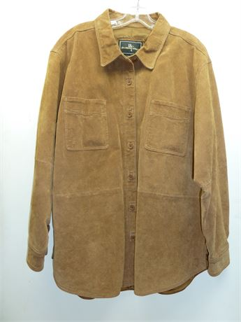 Brandon Thomas Leather Shirt/Jacket ,Tan Size XL