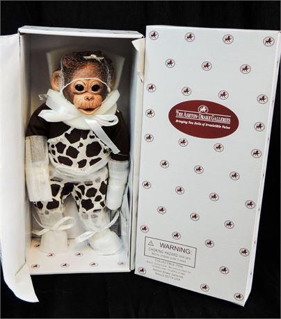 """Ashton Drake """"Little Enu"""" Baby Monkey 14"""" Doll by Cindy Sales Mint in Box!"""