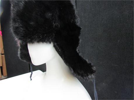 Black Rabbit Trapper Hat   (650)