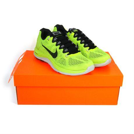 Nike Lunarglide+ 5 Shoes 599160-710 Volt/Black-Summit White Men's Size 9 |NEW|