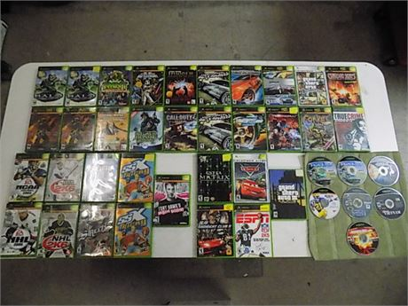 Original XBox Game Lot; 41 Pieces