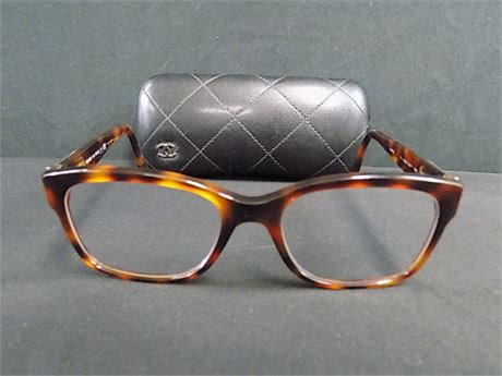 Chanel Brown Leather Patch Frames