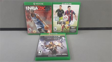 Lot Of 3 XBOX One Games.