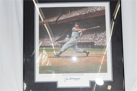 Painting of Joe Dimaggio's 56 Game Hitting Streak, Autographed, Authenticated