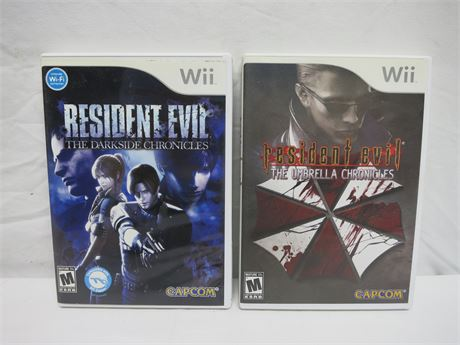 Nintendo Wii The Umbrella Chronicles & Darkside Chronicles Video Games