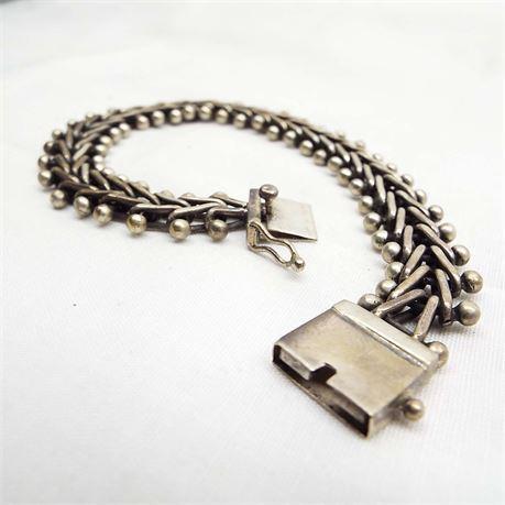 Vintage Sterling Silver Linked Bracelet 45.4 Grams