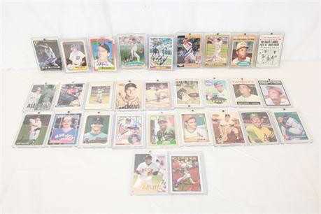28 MLB Baseball Cards Some Dust Baker Roger Maris Jackie Robinson & More
