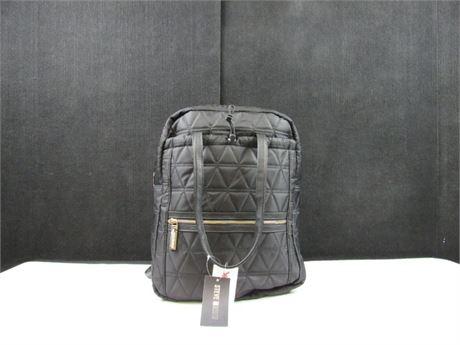 New Steve Madden Black Quilted Backpack #BB284 (650)