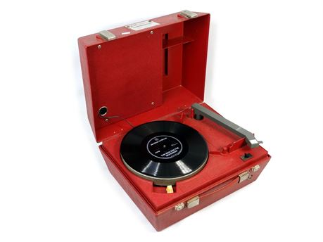 Vintage A-78 Braille Talking Books Portable Record Player w/ Flexible Record