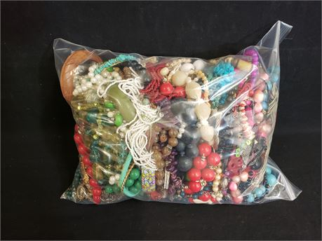 Lot Of Mixed Quick Sorted Costume Jewelry. 10 Lbs. 6.5 oz. W/ Bag