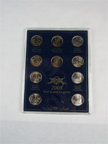 2008  State Quarter Collection Denver Philly Mint (650)