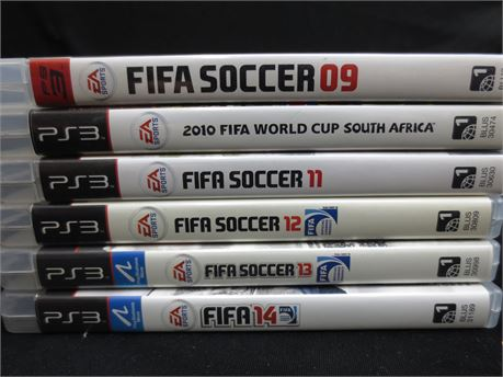 Lot of PlayStation 3 Games: FIFA Soccer Games
