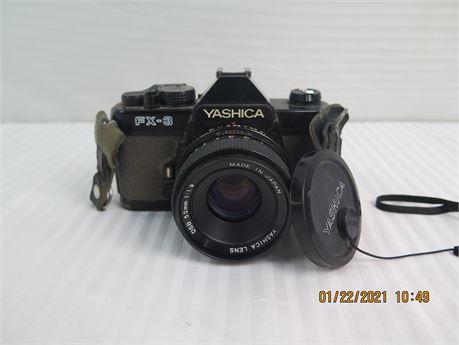 Yashica FX-3 35mm Film Camera w/ Yashica DSB 50mm 1:1.9 Lens - See Description