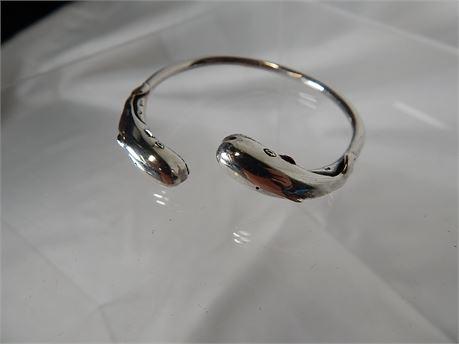 Sterling Silver Whale Cuff Bracelet 24.1 grams (270SA/wB)