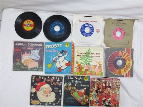 Lot of 45s 7 Inch Vinyl Records Lot Christmas