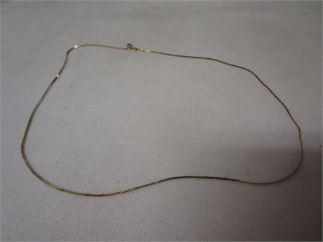 14 Karat Yellow Gold S Link Necklace 2.28 Grams - Tested w/ JSP