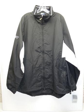 Mens Reebok Black & White Light Weight Jacket Size XL NEW