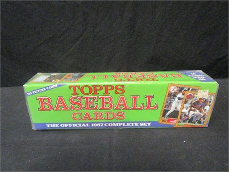 Topps 1987 Baseball Cards Complete Set - Sealed