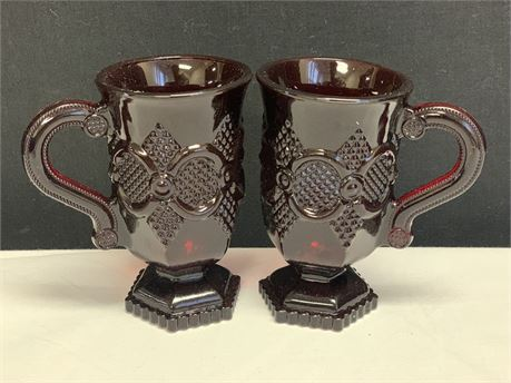 Avon Two Pedestal Mugs