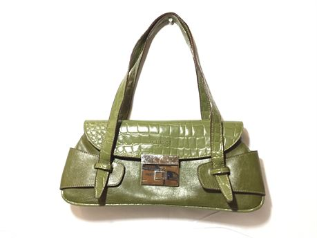 """Gucci Green Style w/ Orange Color Interior Purse 13""""X5""""X2"""""""
