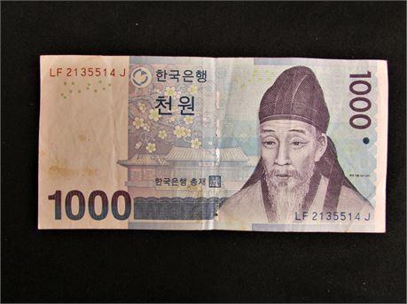 Korean  Banknote