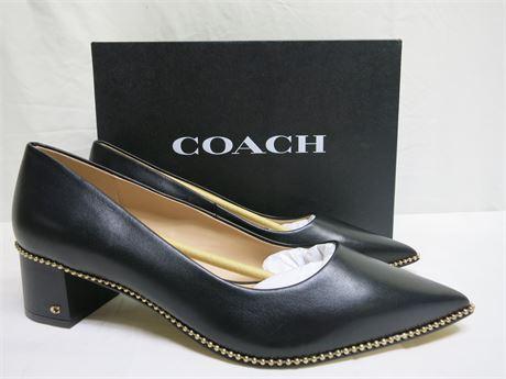 COACH WILLA 45 LEATHER PUM Black Size 11B Brand New