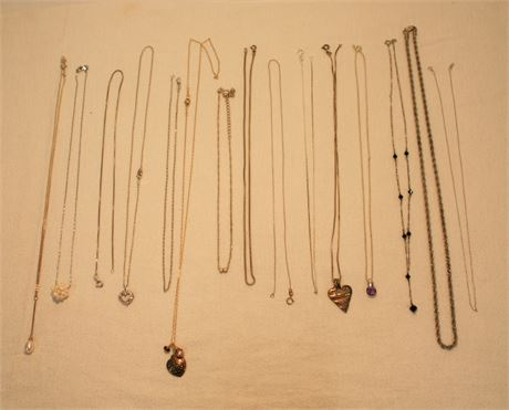 .925 Silver Necklace Lot ~50g (500)