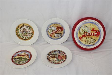 "Decorative Restoration Hardware Classic Cheese Plates 8"""
