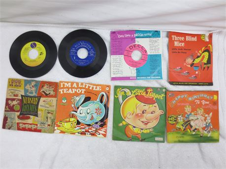 Lot of 45s 7 Inch Vinyl Records Lot Childrens